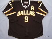 Dallas Stars #9 Mike Modano Embroidered Black NHL Jersey--HOT PRODUCTS