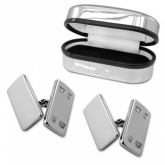 Plain Rectangular Sterling Silver Cufflinks Online