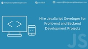 Hire JavaScript Developer for frontend & backend development projects